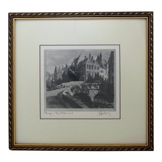 Gravure Print, Pont Flamand in Bruges For Sale