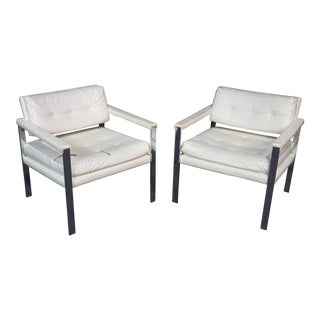 Mid-Century Modern Flat Bar Chairs - a Pair For Sale