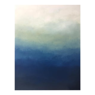 """Abstract Blue Ombré - 36""""x48"""" For Sale"""