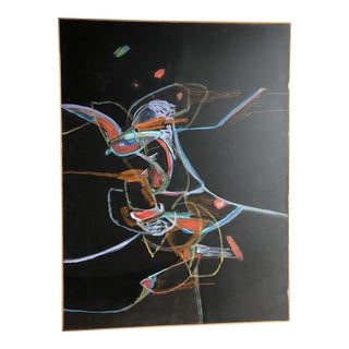 Vintage 20th Century Abstract Painting For Sale