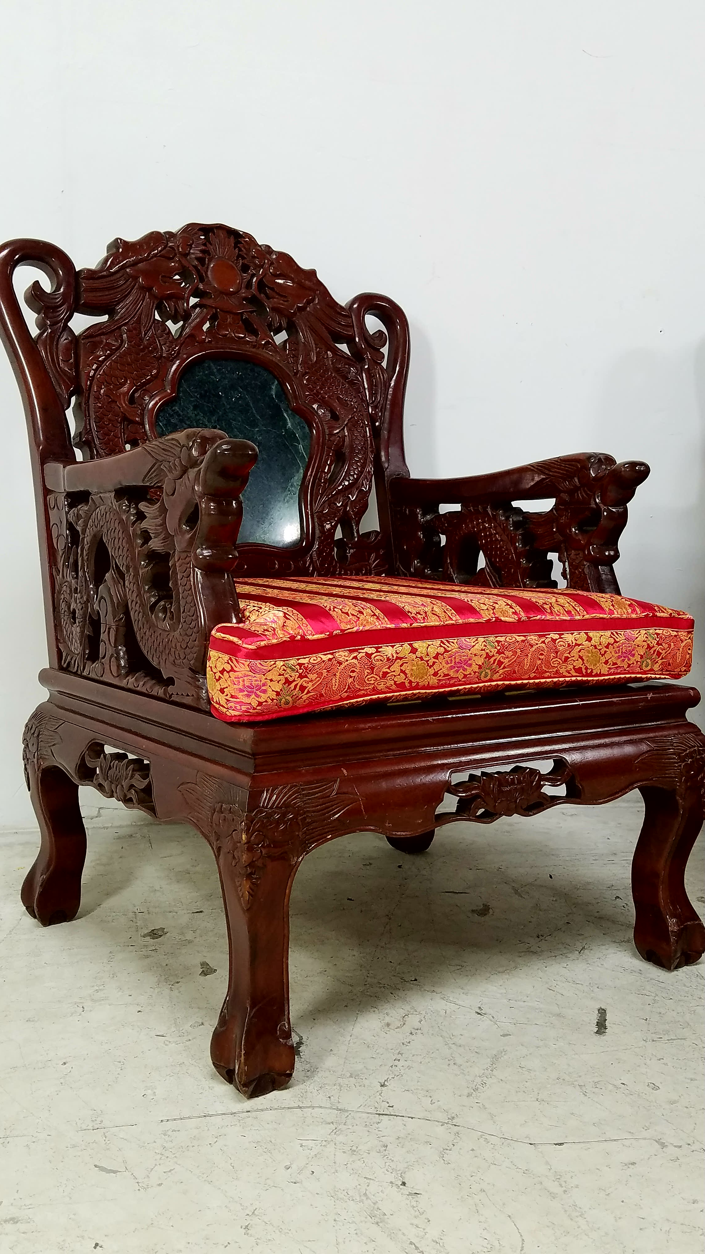 2 Chinese Rosewood U0026 Marble Chair   Image 2 ...