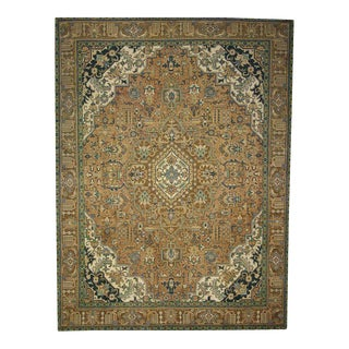 Vintage Persian Tabriz Rug with Traditional Style