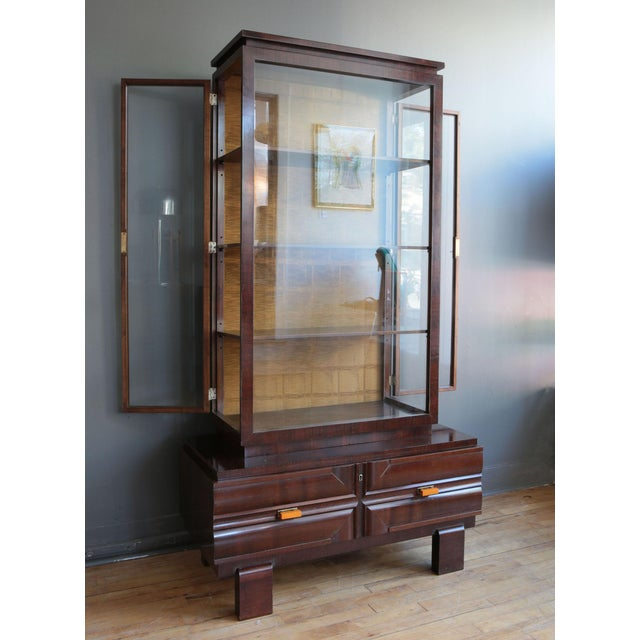 Art Deco Art Deco Display Cabinet by Károly Lingel For Sale - Image 3 of 9