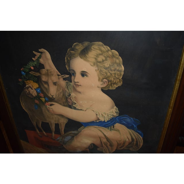 19th Century Antique Henry Schile Hand-Painted Lithographs, Painting Is Watercolor - a Pair For Sale - Image 10 of 11