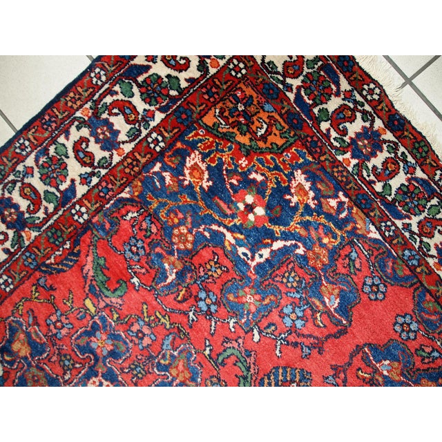 Textile 1970s Hand Made Vintage Persian Mashad Rug - 4′7″ × 6′4″ For Sale - Image 7 of 10