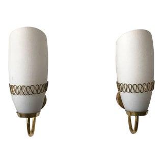 1950s Vintage Mauri Almari for Idman Brass Sconces - a Pair For Sale