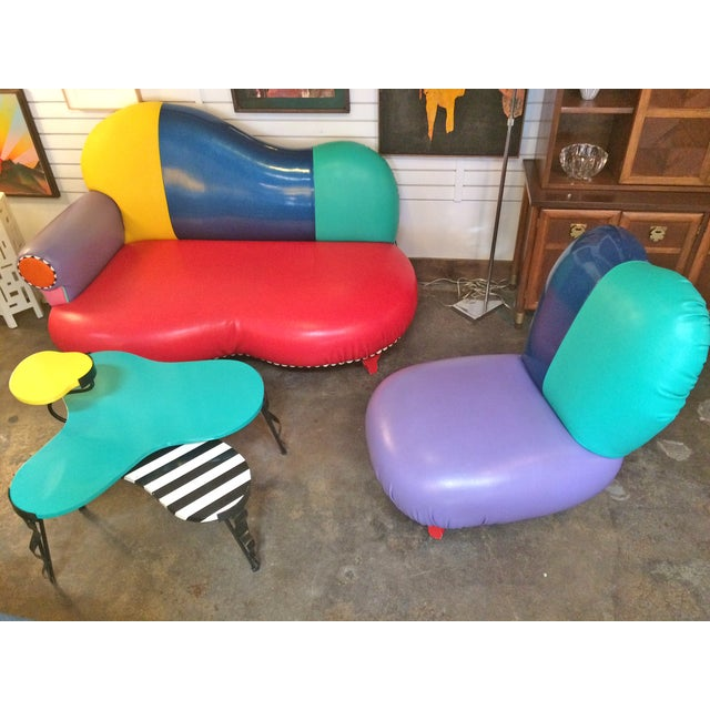 Memphis Inspired Slipper Chair by Harry Siegel For Sale - Image 7 of 7