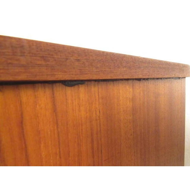 Brown Scandinavian Modern Teak Sideboard or Television Console For Sale - Image 8 of 9