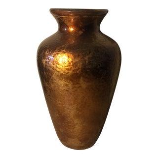1970s Italian Copper Colored Glass Vase For Sale