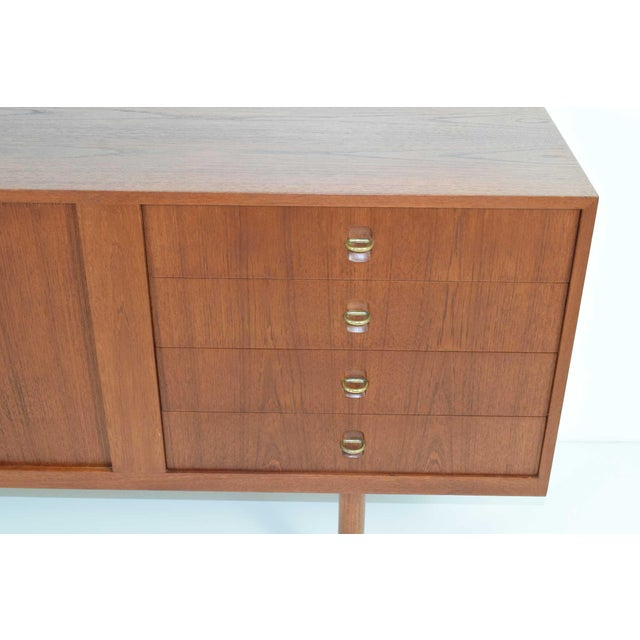 Brown Danish Teak Sideboard/Credenza, Jens Risom Attributed For Sale - Image 8 of 8