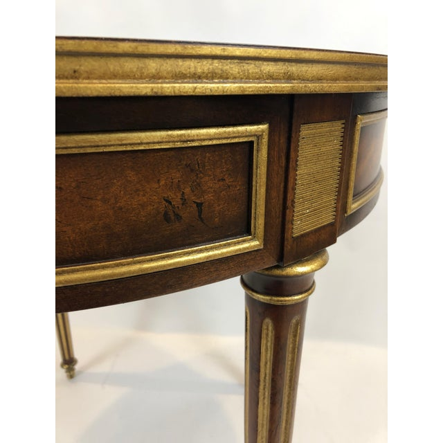 Round Regency Style Side Table With Bronze Mounts For Sale - Image 12 of 13