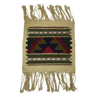 Miniature Hand Woven Zapotec Rug - 8″ × 1′1″
