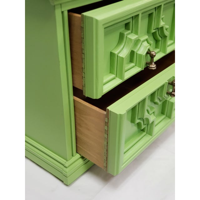 Mediterranean Mediterranean Lime Green Side Table For Sale - Image 3 of 4