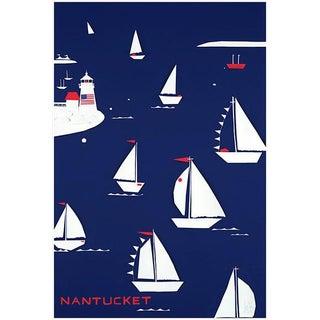 Nantucket Regatta Navy Fine Art Print by Liz Roache For Sale