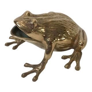 Vintage Brass Frog Figurine For Sale