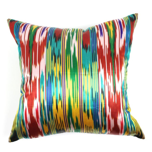 Silk Ikat Pillow For Sale