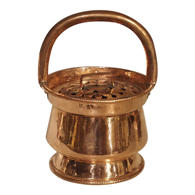 17th Century Copper Chaufferette From France For Sale