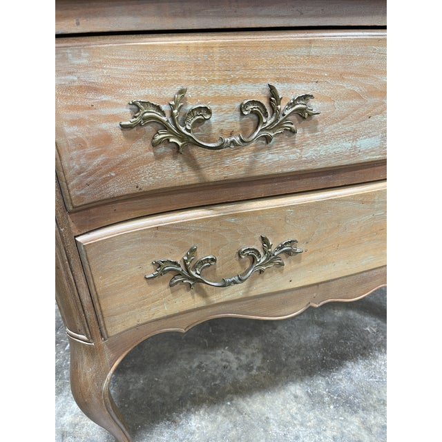1950s Bleached Walnut Queen Anne Lowboy Silver Chest For Sale - Image 5 of 6