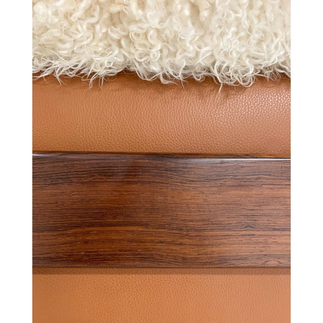 Sergio Rodrigues for Oca Solid Jacaranda Tonico Chair Restored in Gotland Sheepskin and Loro Piana Italian Buffalo Leather For Sale - Image 12 of 13