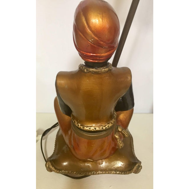 Pair of Blackamoors Mid-century Nubian Table Lamps For Sale - Image 9 of 13