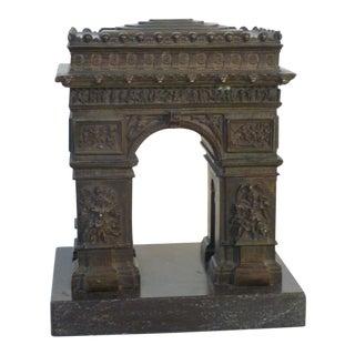 Grand Tour Bronze Arc De Triomphe For Sale