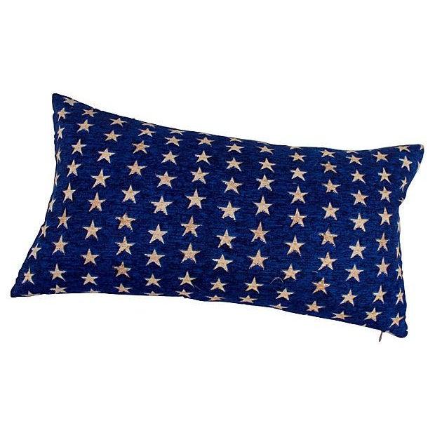 Folk Art Americana Stars Pillows - Pair - Image 3 of 5