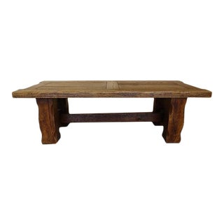1960s French Oak Live Edge Coffee Table For Sale
