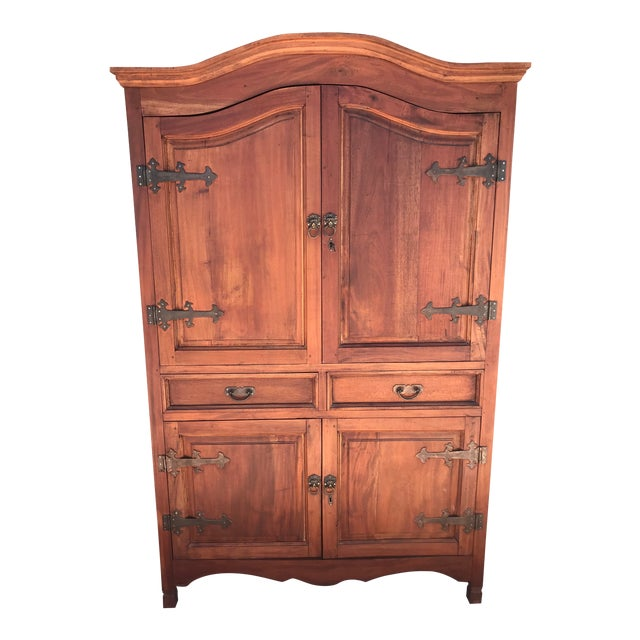 Antique Rustic Spanish Style Armoire For Sale
