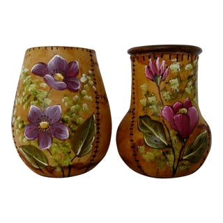 Brazilian Artisan Vases - A Pair For Sale