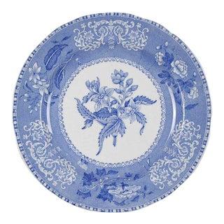 Spode Camilla Blue Scalloped Earthenware Salad Plates - Set of 2 For Sale