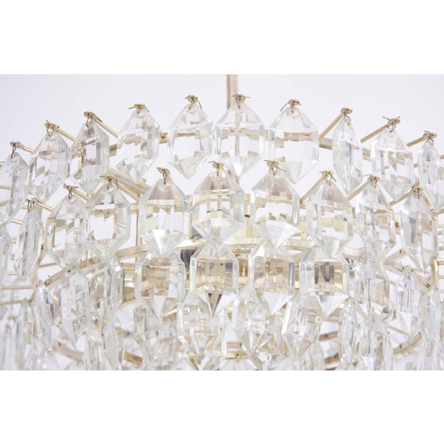 Mid-Century Modern Stunning Crystal Glass Bakalowits Chandelier For Sale - Image 3 of 5