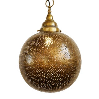 Brass Globe Lantern Medium For Sale