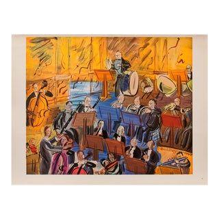 1940s Raoul Dufy the Orchestra Original Period Swiss Lithograph For Sale