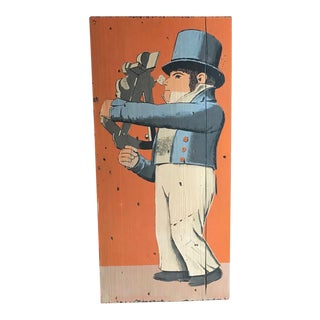 Retro Tavern Sign by George Nathan, Vintage Art For Sale