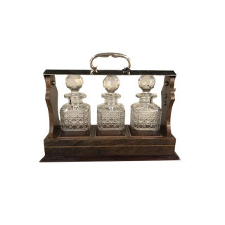 Antique English Tantalus Set - Set of 3