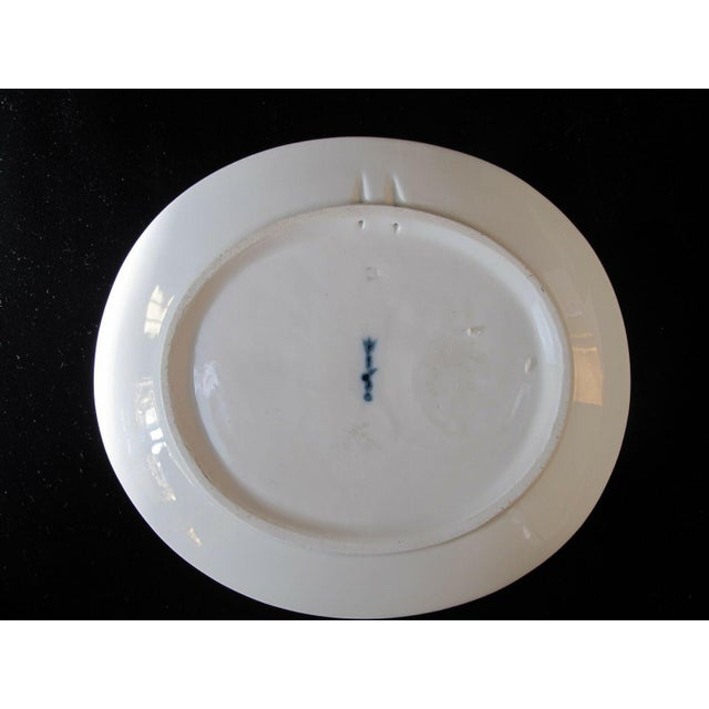 White Vintage Arkadia KPM White Porcelain Birds Peacock Duck Heron Plate Dishes - 3 Pieces For Sale - Image 8 of 10