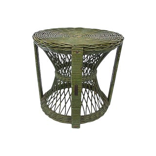 1940s Heywood Wakefield Wicker Table For Sale