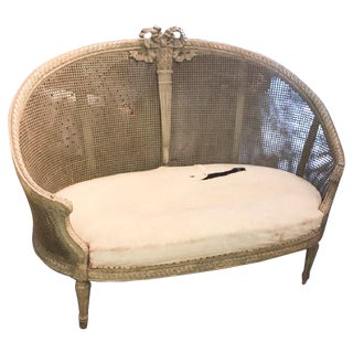 Late 19th Century Louis XVI Caned Settee