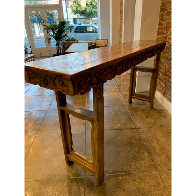 Antique Hand Carved Wood Altar Table/Console For Sale - Image 11 of 12