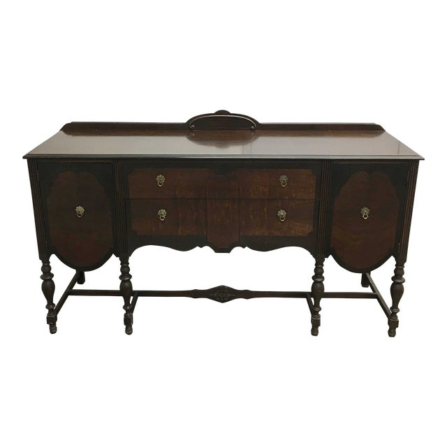 Vintage Wood Spindle-Leg Sideboard - Image 1 of 8