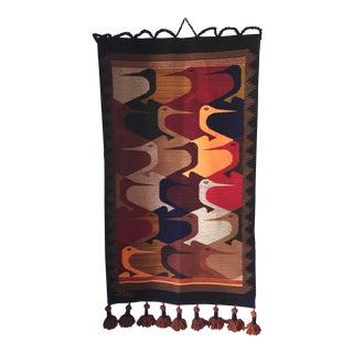 Modern Birds Handmade Tapestry For Sale