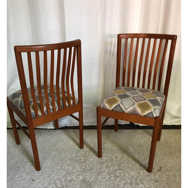 Danish Teak Dining Kitchen Chairs - Set of 4 For Sale - Image 9 of 9