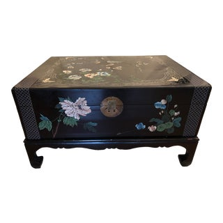 1950s Painted Lacquered Chest For Sale
