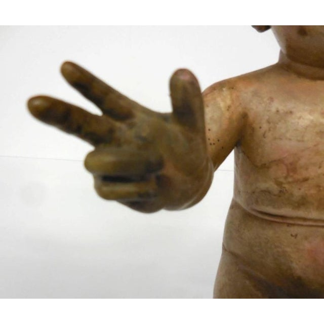Polychrome Spanish Colonial Nino Sculpture For Sale - Image 7 of 10