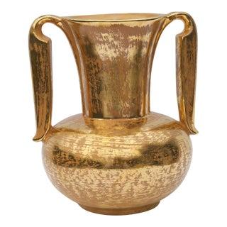 Vintage Golden Two-Handled Vase by Stangl For Sale