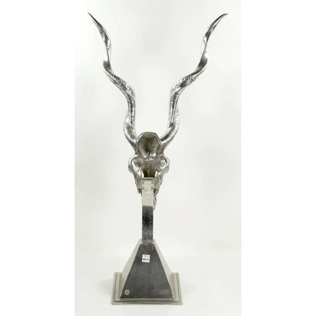Late 20th Century Arthur Court Kudu Antelope Skull Sculpture For Sale In Houston - Image 6 of 8