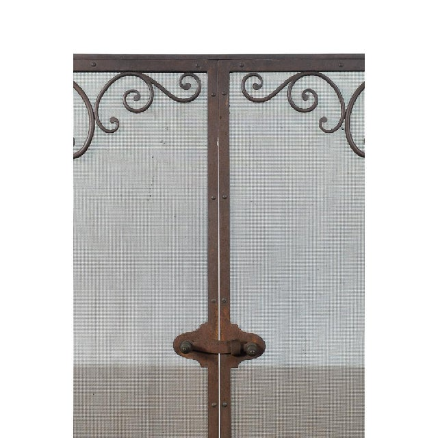 Antique Ornate Spanish Cast Iron Fire Place Screen Set A beautiful piece that will add to your décor!