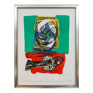"Karel Appel ""Fish Dinner"" Lithograph, 1966 For Sale"