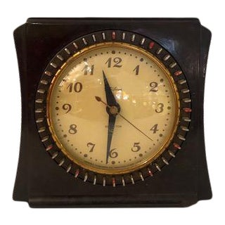 Vintage Telechron Electric Art Deco Desk/Shelf Clock For Sale