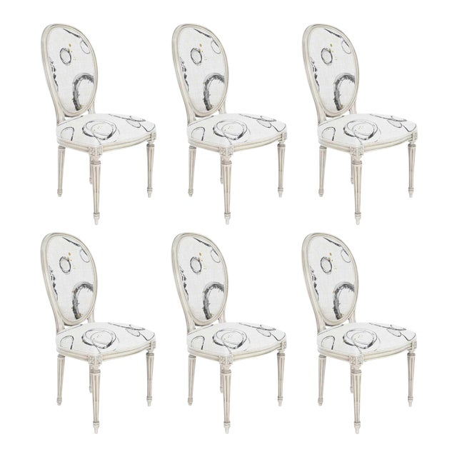 Louis XVI Dining Chairs by Widdicomb - Set of 6 For Sale